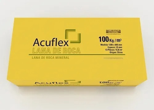 Imagen 1 de 1 de Aislante Lana De Roca 1200x600 X25 Mm X 100 Kg Acuflex