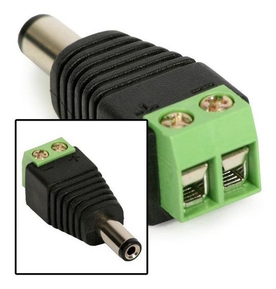 Kit 4 Plug Conector P4 Macho P/ Cftv Camera Borne Kre Som Ok