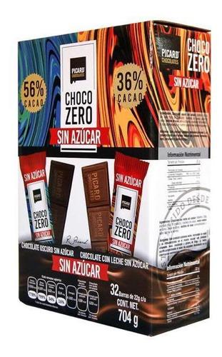 Imagen 1 de 2 de 32 Chocolates Choco Zero Sin Azucar Picard - 18 Msi