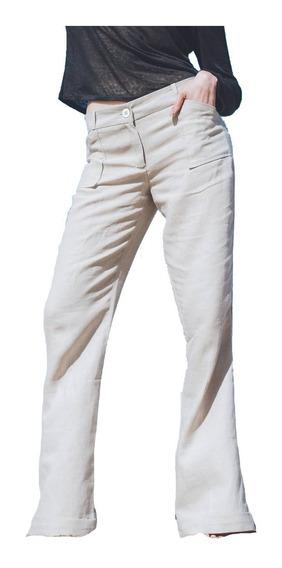 Pantalón Lino Botamanga Oxford Bolsillos Delanteros Solo Xxs