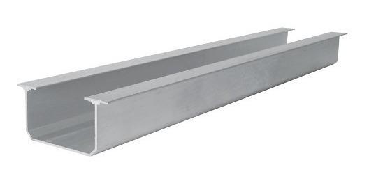 Riel De Aluminio Para Clóset Tipo Tt 2 Metros Lock