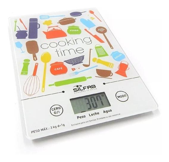 Balanza Digital De Cocina Electrónica Silfab Ultra Slim 3 Kg