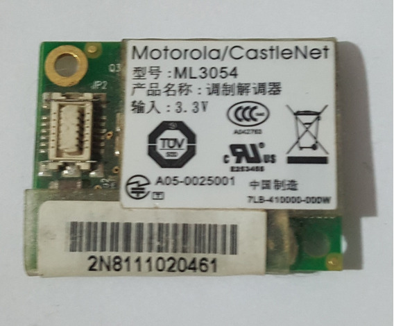 Placa Wifi Modem Banghó Modelo Motorola Castlenet Ml3054