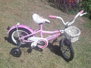 Bicicleta Niña Musetta Rodado 14 Rosa