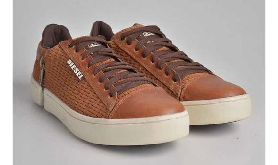 Tênis Cano Baixo Couro- Sapatênis Casual Sapato Ziper Masculino
