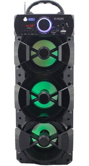 Caixinha Som Bluetooth Radio Fm Usb Sd P2 Bateria Vc-m912bt