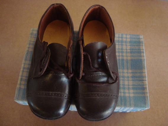 Par De Zapato Antiguo Sin Uso Nro 24 Marrón Oscuro