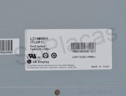 Tela Display Lcd Lg Lc190wh1 (tl) (a1)