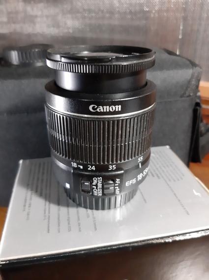 Lente Canon 18-55,mm Só Manual+bolsa/brinda (para Camera)