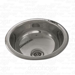 Bacha Simple Baño Pileta Vanitory Johnson Acero Inox. 0 250l