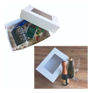 Cajas Para Desayunos Chica Pack 100 C/visor Pvc Envío Gratis