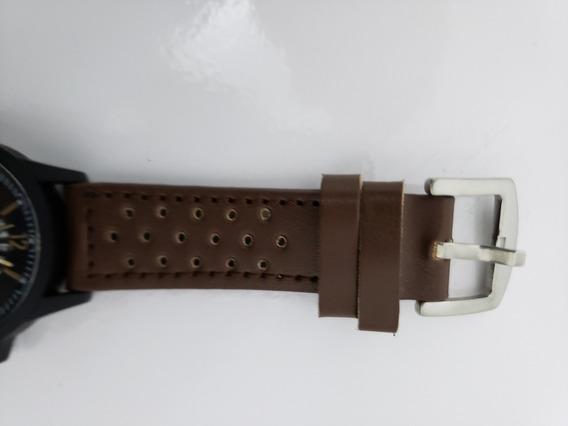Relógio Ponteiro Marcador Marrom Escuro