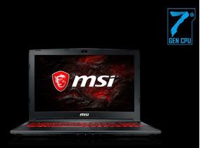 Notebook Gamer Msi Gl62m 7rex I7 7700hq 8gb R Gtx1050 Ti 1tb