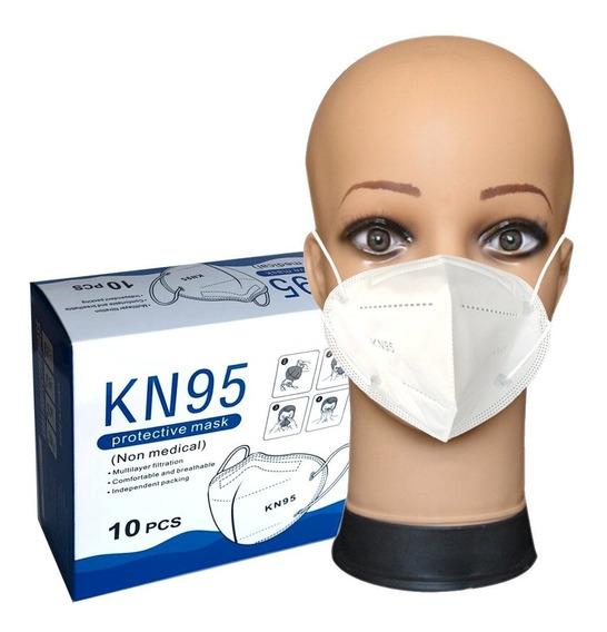 Cubrebocas Kn95 Con Ajustador Nasal (10 Piezas)