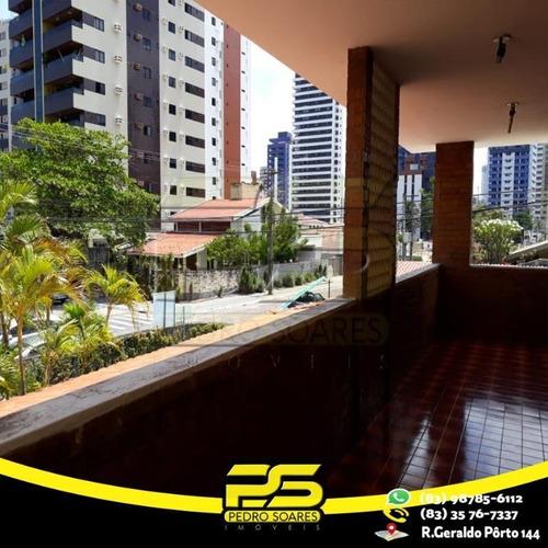 Casa Com 3 Dormitórios Para Alugar Por R$ 8.000/mês - Manaíra - João Pessoa/pb - Ca0459