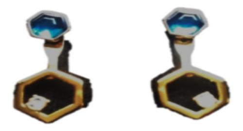Aretes Exagon Blue Unique