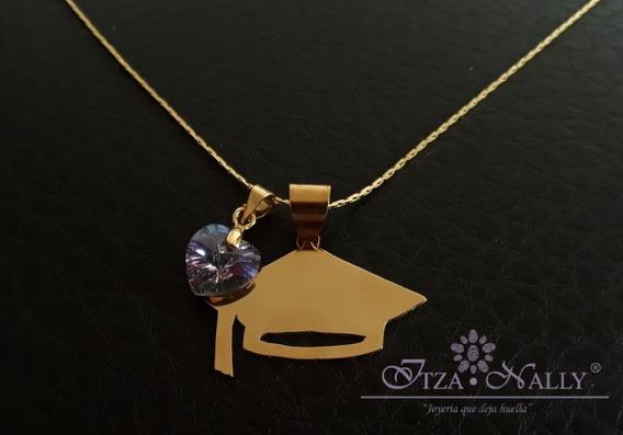 Collar Graduación Birrete Y Cristal Swarovski