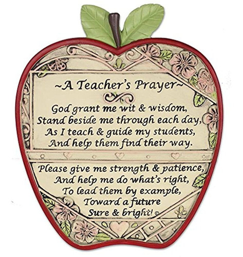 Imagen 1 de 3 de Manzana Del Profesor  Placa Un Profesor De Oracion  Final De