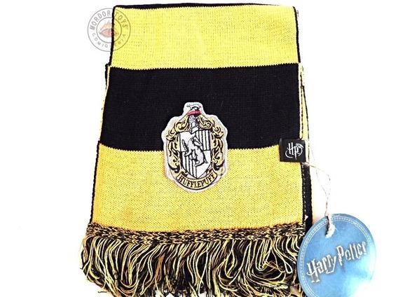 Bufanda Hufflepuf Harry Potter Rayada Original Oficial Hp Newt Scamander