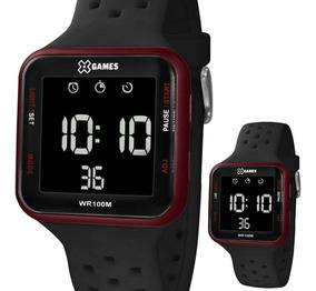 Relógio X-games Unissex Xgppd101 Quadrado Digital Negativo