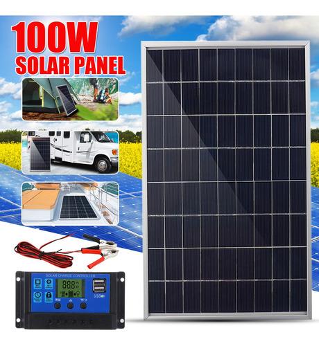 Imagen 1 de 8 de 100w 12v Panel Solar Flexible Monocristalino Carga De Baterí