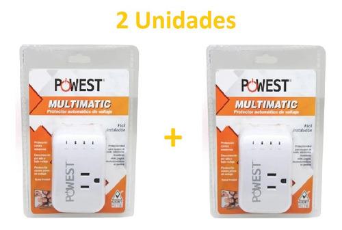 X2 Protector Voltaje Multimatic 110/10a Tv Pc Electro.