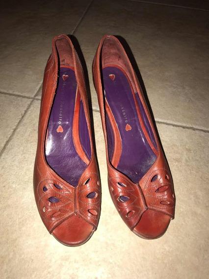 Zapatos De Cuero Maggio Rossetto Talle 41 Mujer