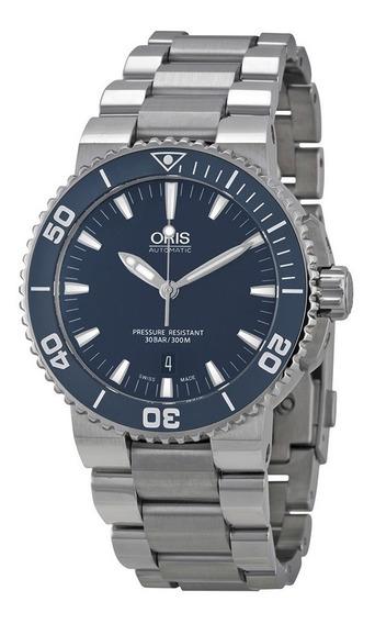 Reloj Oris Aquis Acero Inoxidable Hombre 73376534155mb