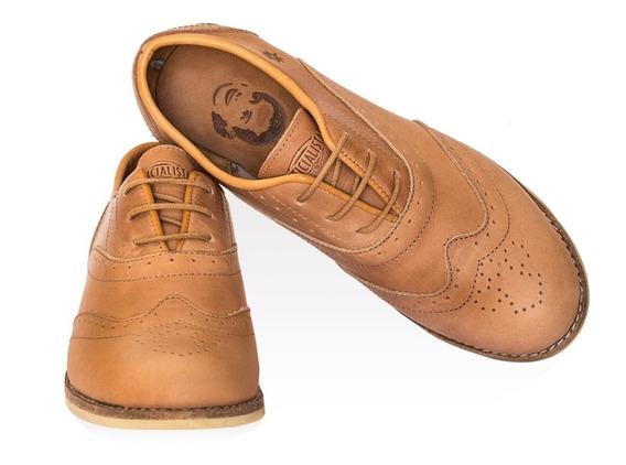 Zapatos Justicialistas 1947 Mujer Cuero Vacuno Suela