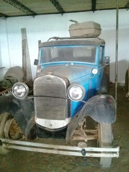 Ford A De Colección 2 Puertas Azul