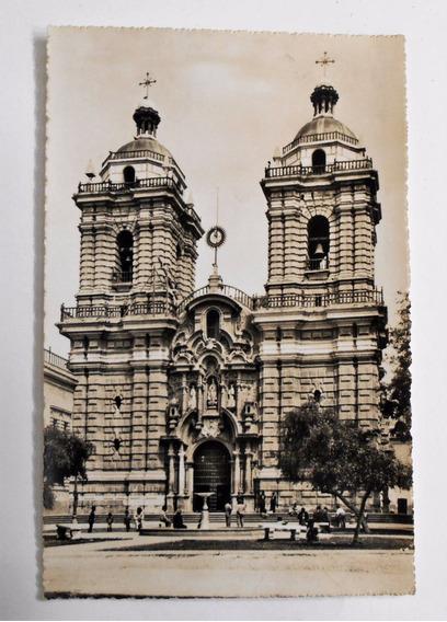 Foto Postal Convento San Francisco Lima Peru Circa 1950