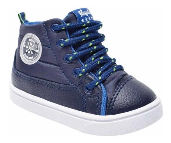 Zapatillas Botita Heyday Niño Azul