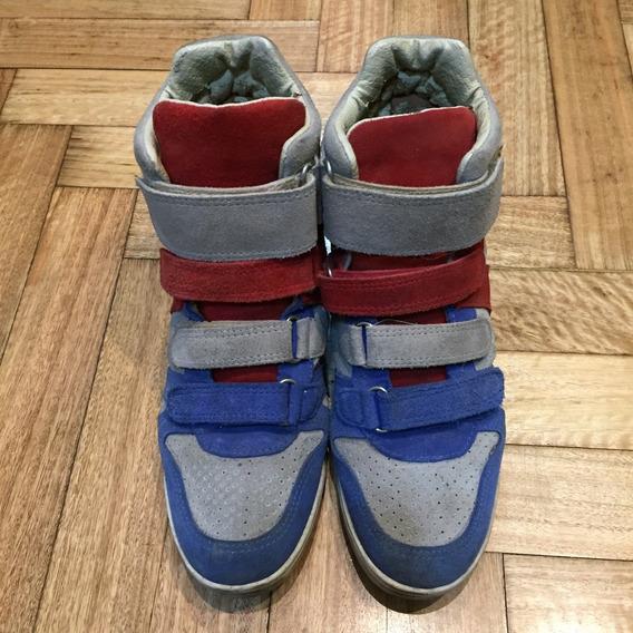 Zapatillas Tricolor Con Abrojo