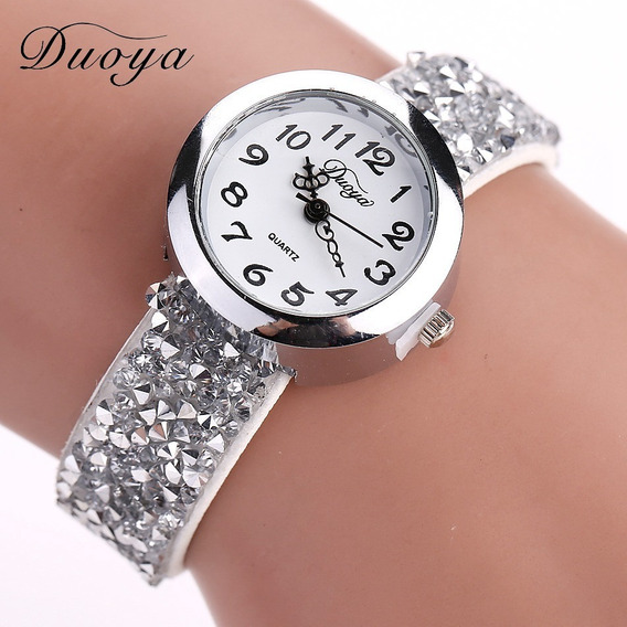 Relógios Duoya Feminino Moda Cristal