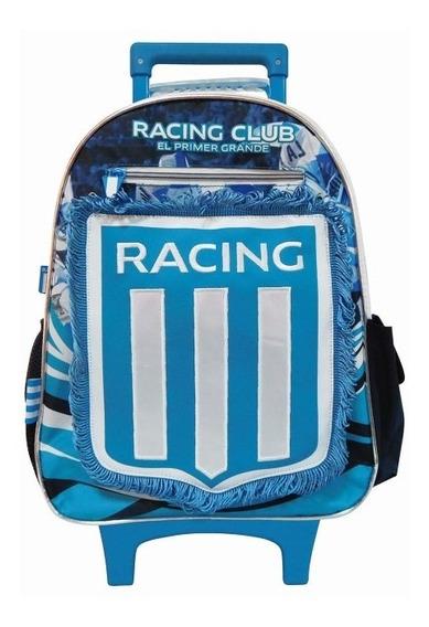 Mochila Racing Club C/carro Y Banderin 16 Pulgadas Original