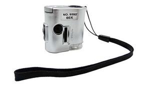 Microscopio Mini 60x Con Led + Uv Obi