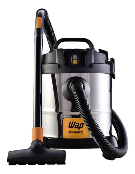 Aspirador Wap GTW Inox 12 12L aço inoxidável e preto 220V