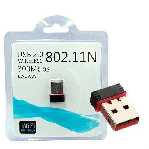 Placa De Red Wifi Nano 300mbps Lv-uw03