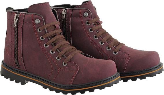 Bota Coturno Masculino Sapato Com Ziper Tenis Crshoes 9004