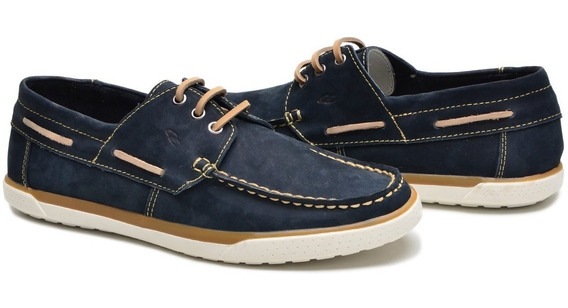 Sapato Dock Sider Em Couro Cla Cle