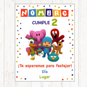 Tarjetas Invitacion Pocoyo Tarjeta Disfraces Y Cotillón