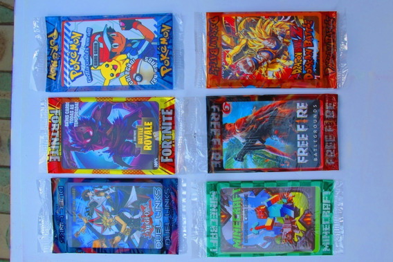 Kit 2.000 Cards = 500 Pcts, Fortnite, Pokémon, Sortidas