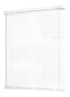 Persiana Scala Horizontal De Pvc 25 Mm 80x160 Color Blanco