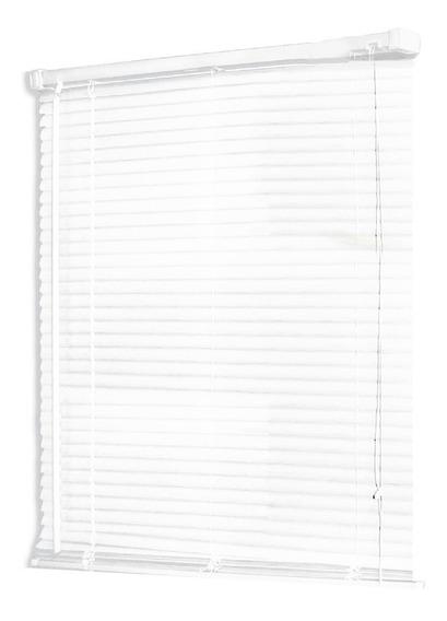 Persiana Scala Horizontal De Pvc 25 Mm 80x160 Color Blanco