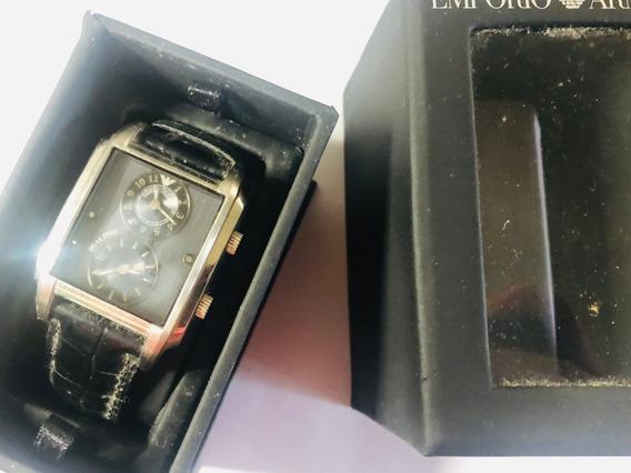 Relógio Empório Armani Ar04076 Quartzo C/ Caixa Dual Time