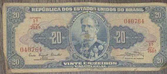 20 Cruzeiros - Bom Estado - 1ª Estampa