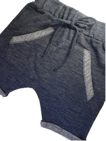 Bermuda Infantil Menino Saruel Em Fleece Jeans (moletinho)