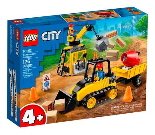 Lego City Bulldozer De Construcción 126 Piezas