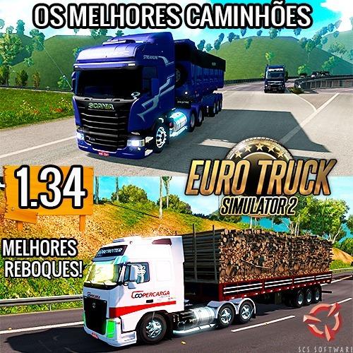 Euro Truck Simulator 2 -jogo Pc - Mod Brasileiro V. 1.34