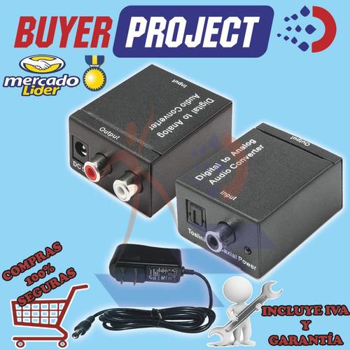 Adaptador Convertidor Audio Digital Optico A Rca + Adaptador